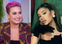 Demi Lovato sugere que nova música terá vocais de apoio de Ariana Grande