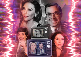 """FallonVision"": Elizabeth Olsen e Jimmy Fallon realizam divertida esquete em programa de TV"