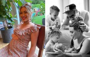 Hilary Duff dá as boas-vindas ao terceiro filho, Mae James Blair
