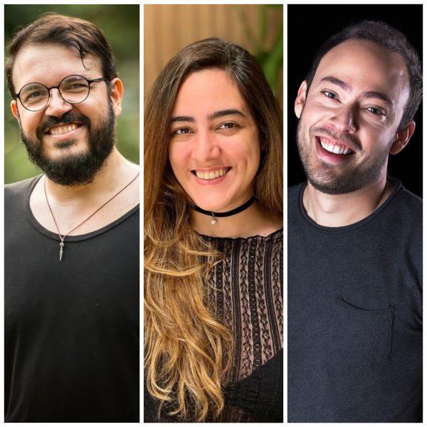Os organizadores Thiago Soares (foto 1), Mariana Lins (foto 2) e Alan Mangabeira (foto 3); (Acervo Pessoal)