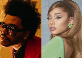 The Weeknd e Ariana Grande divulgam trecho de nova parceria