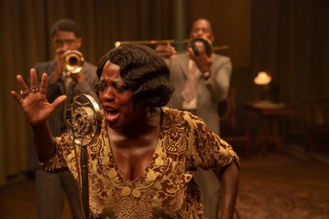 """A atriz foi homenageada por seu trabalho em """"A Voz Suprema do Blues"""" (David Lee / Netflix / Divulgação)"""