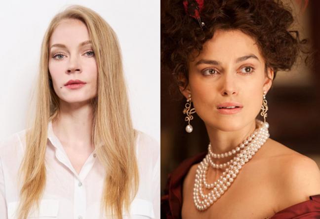 Khodchenkova será a protagonista, interpretada por Knightley em 2012 (Netflix / Divulgação; Laurie Sparham / Focus Features / Divulgação)