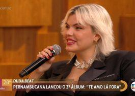 """Duda Beat canta """"Meu Piseiro"""" e """"Bixinho"""" no Encontro com Fátima"""