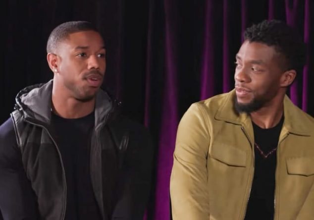 """Eles atuaram juntos em """"Pantera Negra"""" (Reprodução)"""