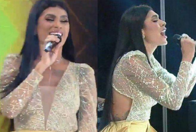 A cantora chegou ao Top 5 da edição (Reprodução)