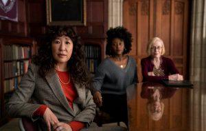 """Sandra Oh se destaca nas primeiras fotos de """"The Chair"""", nova série da Netflix"""