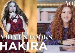 Shakira comenta visuais icônicos da carreira em vídeo para a Vogue México