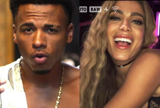 """No vídeo, Anitta interpreta uma """"cam girl"""" (Reprodução)"""