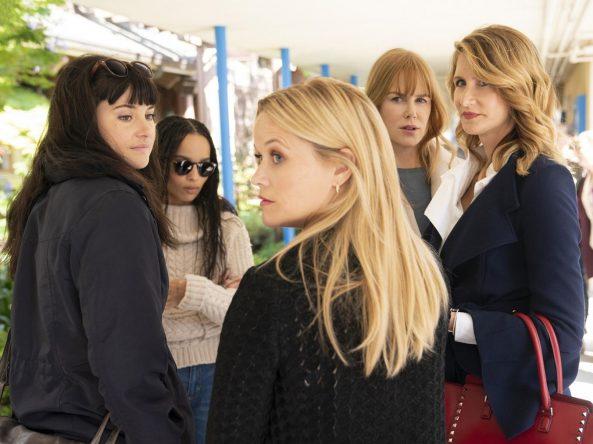 Woodley, Zoë Kravitz, Reese Witherspoon, Nicole Kidman e Laura Dern estrelam o drama (HBO / Divulgação)