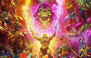 """Heróis e vilões se reúnem em majestoso cartaz de """"Mestres do Universo: Salvando Eternia"""""""