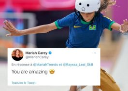 Mariah Carey parabeniza skatista brasileira Rayssa Leal por vitória nas Olimpíadas de Tóquio