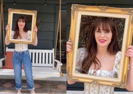 """Zooey Deschanel faz referências a """"New Girl"""" em primeiro vídeo no TikTok"""