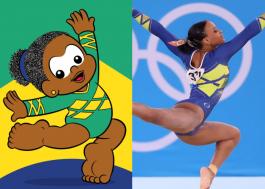 Turma da Mônica faz homenagem à vitória histórica da ginasta Rebeca Andrade