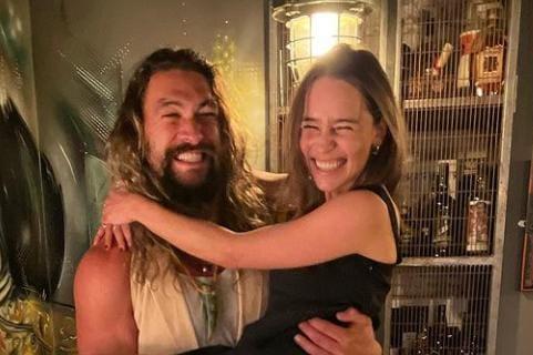 Eles interpretaram Khal Drogo e Daenerys na série (Reprodução)