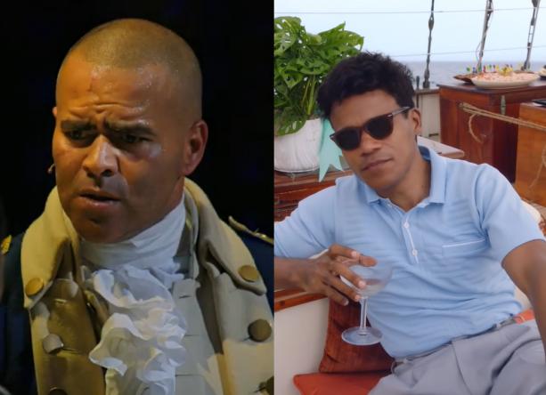 """Os atores são conhecidos por """"Hamilton"""" e """"The Marvelous Mrs. Maisel"""" (Reprodução / YouTube)"""