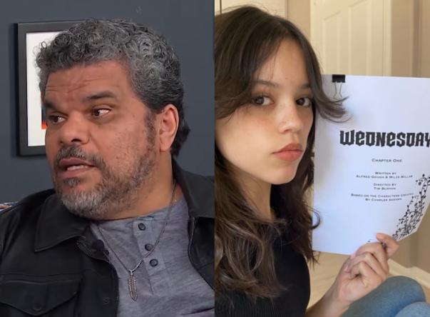 Os atores vão interpretar pai e filha, Gomez e Wandinha Addams (Reprodução / YouTube; Reprodução / Twitter)