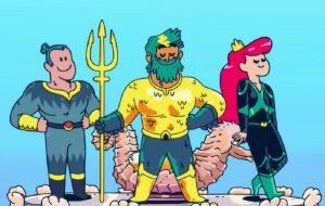 """DC abraça fofura no teaser de """"Aquaman: King of Atlantis"""", animação da HBO Max"""