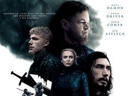 """""""O Último Duelo"""": Jodie Comer,Adam Driver,Ben AffleckeMatt Damon se reúnem em novo cartaz"""