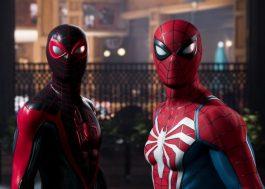 """""""Spider-Man 2"""": Peter Parker e Miles Morales se unem contra Venom no trailer de anúncio do game"""