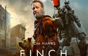 """Tom Hanks posa ao lado de robô e cachorro no primeiro cartaz de """"Finch"""", longa do Apple TV+"""