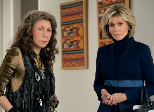 """As atrizes trabalham juntas na série """"Grace and Frankie"""" (Ali Goldstein / Netflix / Divulgação)"""